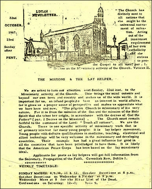 an early edition of the Lucan Newsletter from 1967